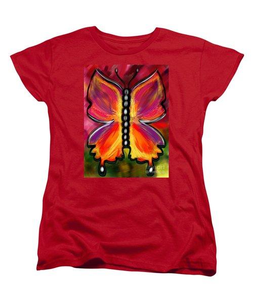Rainbow Butterfly Women's T-Shirt (Standard Cut)