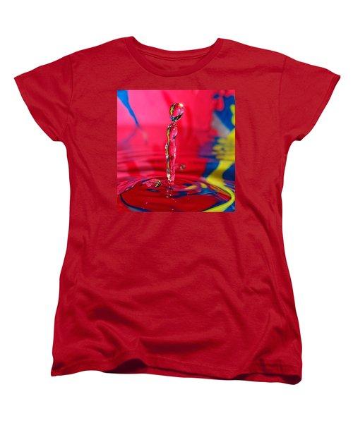 Women's T-Shirt (Standard Cut) featuring the photograph Rainbow Drop by Peter Lakomy