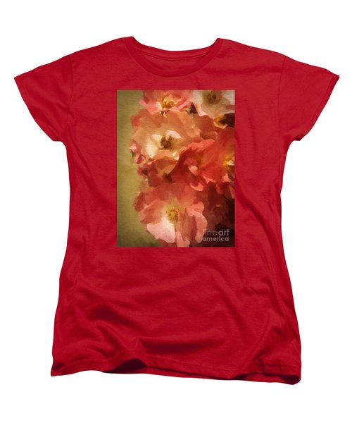 Women's T-Shirt (Standard Cut) featuring the digital art Ramblin Rose Memories by Lianne Schneider