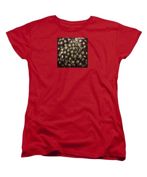 Women's T-Shirt (Standard Cut) featuring the photograph Raspberry Circles by Jean OKeeffe Macro Abundance Art