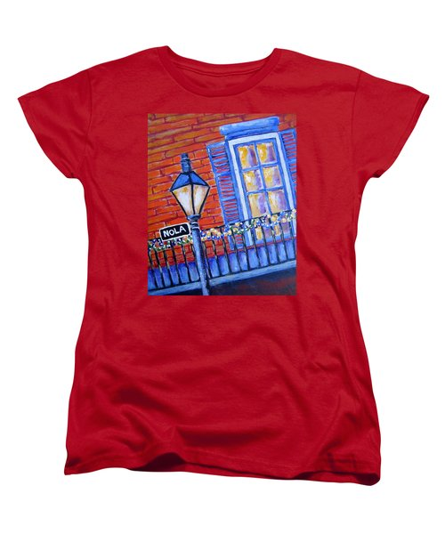 Ready For Mardi Gras Women's T-Shirt (Standard Cut) by Suzanne Theis