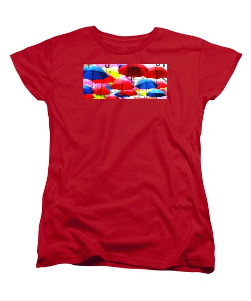 Ready For Rain Women's T-Shirt (Standard Cut) by Lynne Jenkins