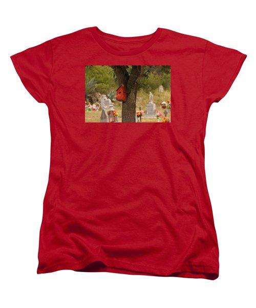 Red Abode Women's T-Shirt (Standard Cut) by Debi Demetrion