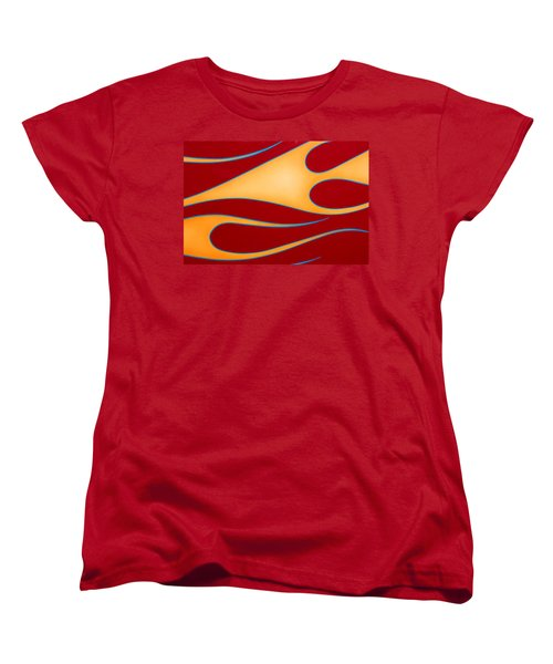 Women's T-Shirt (Standard Cut) featuring the photograph Red And Gold by Joe Kozlowski
