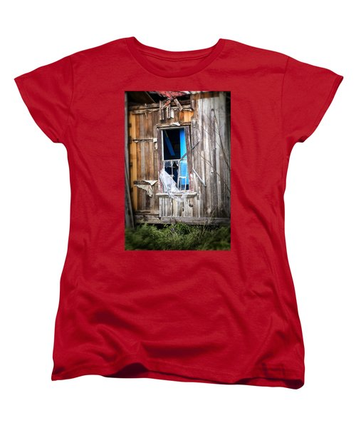Women's T-Shirt (Standard Cut) featuring the photograph Red And White And Blue by Caitlyn  Grasso