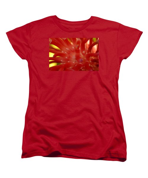 Women's T-Shirt (Standard Cut) featuring the photograph Red Bromeliad by Greg Allore