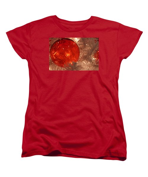 Women's T-Shirt (Standard Cut) featuring the photograph Red Christmas Ornament by Lynn Sprowl