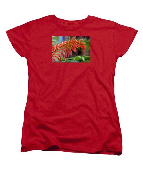 Autumn Fern In Hawaii Women's T-Shirt (Standard Cut) by Venetia Featherstone-Witty