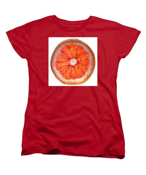 Red Grapefruit Women's T-Shirt (Standard Cut) by Steve Gadomski