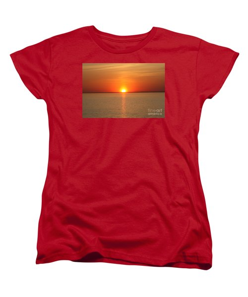 Women's T-Shirt (Standard Cut) featuring the photograph Red-hot Sunset by John Telfer