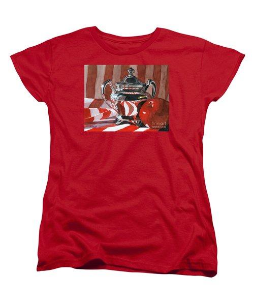 Red In Silver Women's T-Shirt (Standard Cut) by Lynne Reichhart