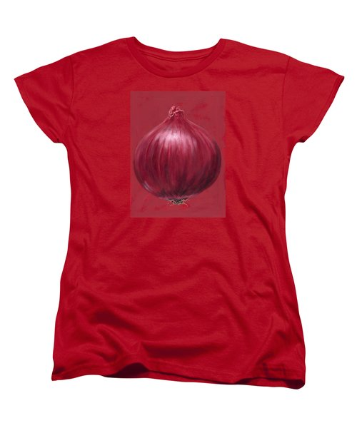 Red Onion Women's T-Shirt (Standard Cut) by Brian James