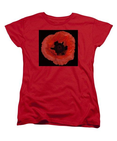 Red Poppy Women's T-Shirt (Standard Cut) by Susan Rovira
