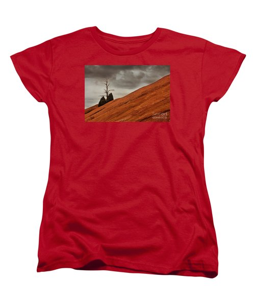 Women's T-Shirt (Standard Cut) featuring the photograph Red Rock by Dana DiPasquale