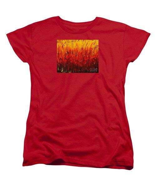 RED Women's T-Shirt (Standard Cut) by Teresa Wegrzyn
