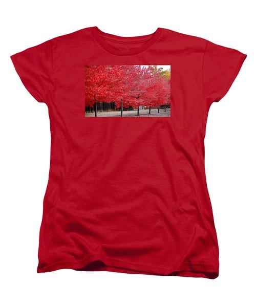 Red Tree Line Women's T-Shirt (Standard Cut)