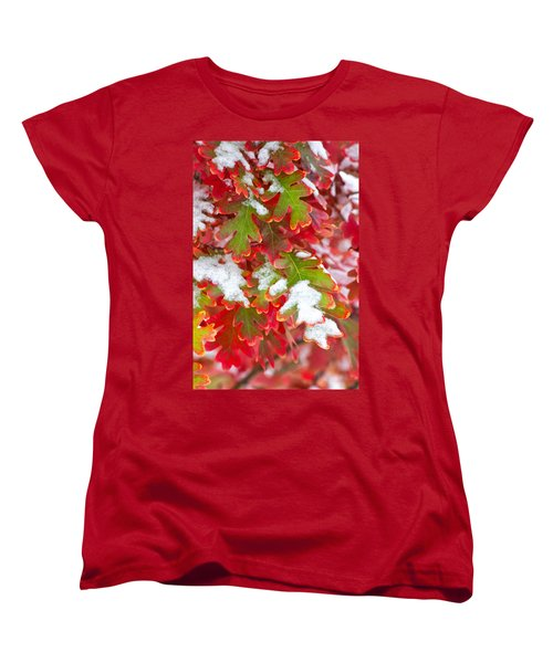 Women's T-Shirt (Standard Cut) featuring the photograph Red White And Green by Ronda Kimbrow