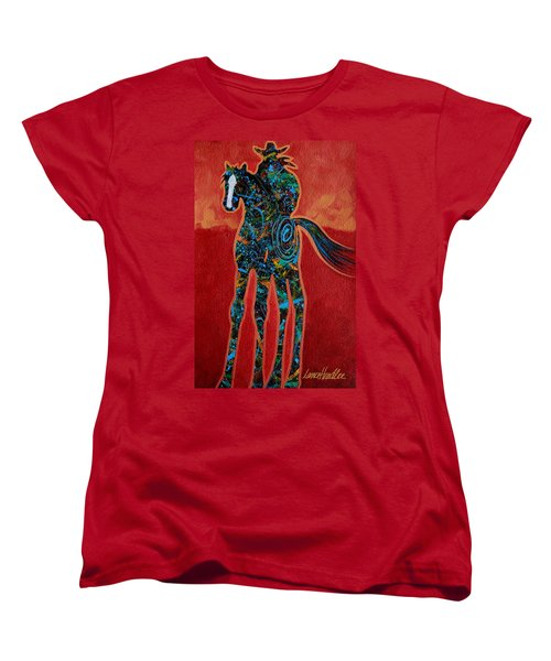 Red With Rope Women's T-Shirt (Standard Cut) by Lance Headlee