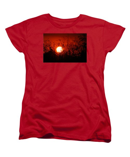 Redorange Sunset Women's T-Shirt (Standard Cut) by Matt Harang
