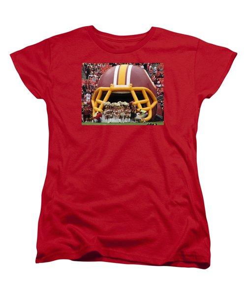 Redskins Cheerleaders Women's T-Shirt (Standard Cut) by Natalie Ortiz