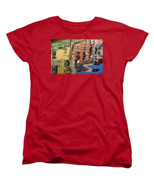 Reflection In A Venician Canal Women's T-Shirt (Standard Cut) by Ron Harpham
