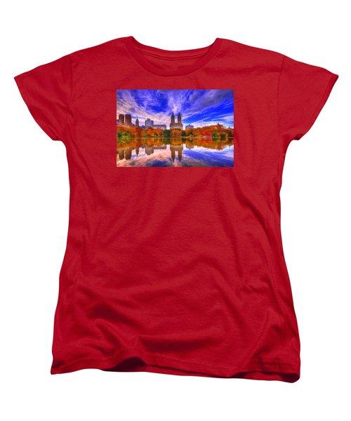 Reflection Of City Women's T-Shirt (Standard Cut) by Midori Chan