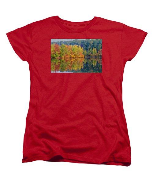 Reflections Of Fall Women's T-Shirt (Standard Cut) by Roger Becker