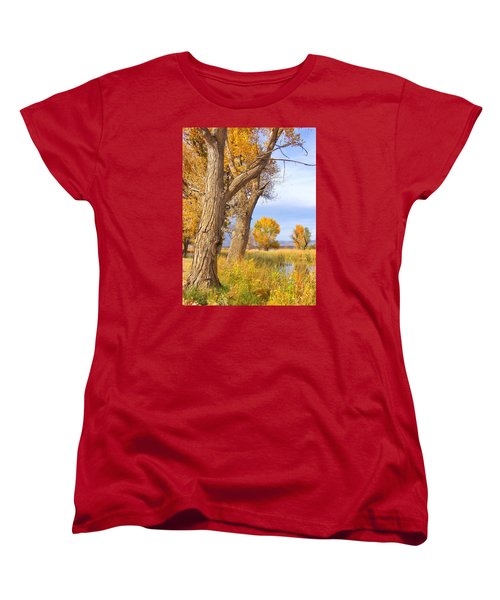 Women's T-Shirt (Standard Cut) featuring the photograph Remembering Autumn by Marilyn Diaz