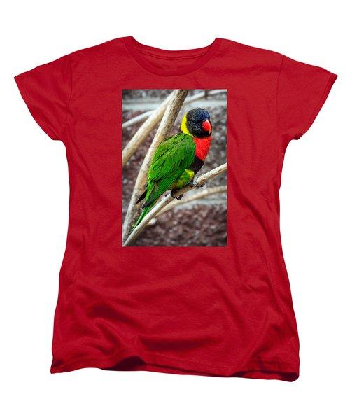 Women's T-Shirt (Standard Cut) featuring the photograph Resting Lory by Sennie Pierson