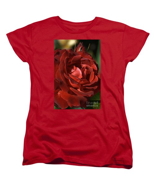 Women's T-Shirt (Standard Cut) featuring the photograph Rich Is Rose by Joy Watson
