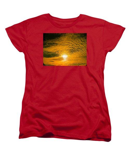 Ripples In The Sky Women's T-Shirt (Standard Cut) by Nick Kirby