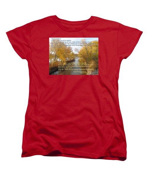 Women's T-Shirt (Standard Cut) featuring the photograph River Of Joy by Christina Verdgeline