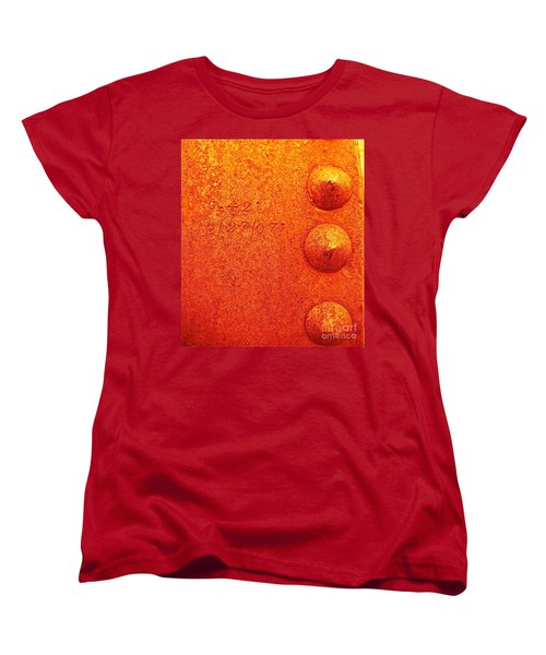 Rivets Women's T-Shirt (Standard Cut) by Linda Bianic