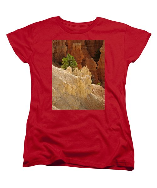 Rocky Embrace Women's T-Shirt (Standard Cut) by Meghan at FireBonnet Art
