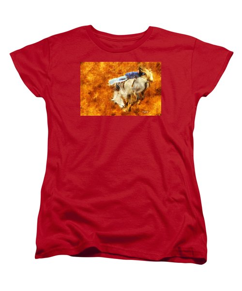 Women's T-Shirt (Standard Cut) featuring the painting Eight-second Ride by Greg Collins