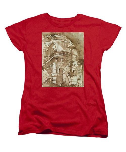 Roman Prison Women's T-Shirt (Standard Cut) by Giovanni Battista Piranesi