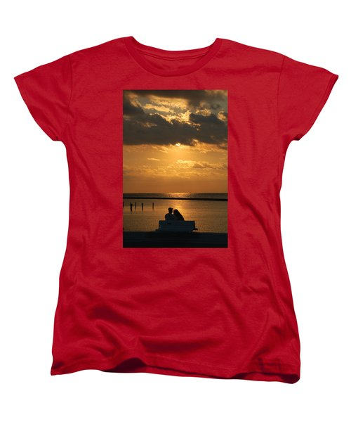 Romantic Sunrise Women's T-Shirt (Standard Cut) by Leticia Latocki