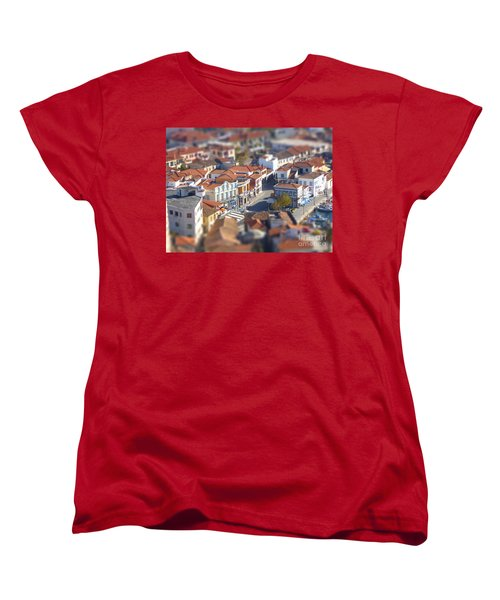 Women's T-Shirt (Standard Cut) featuring the photograph Rooftops by Vicki Spindler