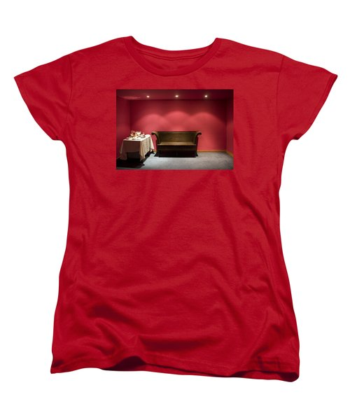 Women's T-Shirt (Standard Cut) featuring the photograph Room Service by Lynn Palmer