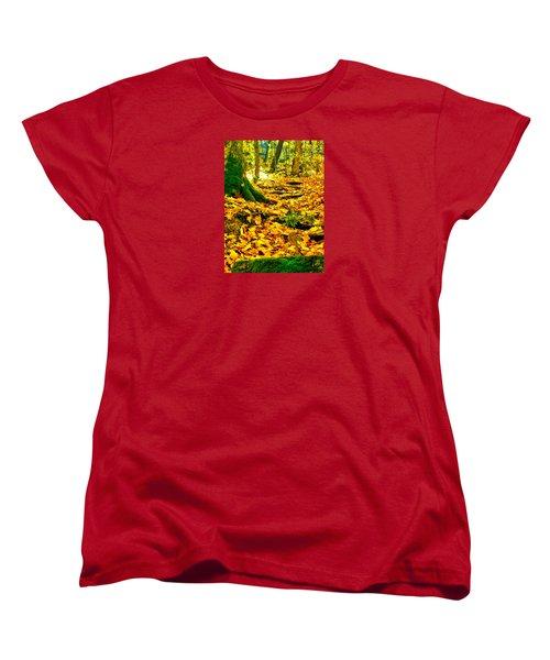 Root Steps Women's T-Shirt (Standard Cut) by Zafer Gurel