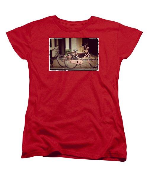 Rose Bike Women's T-Shirt (Standard Cut) by Mary-Lee Sanders