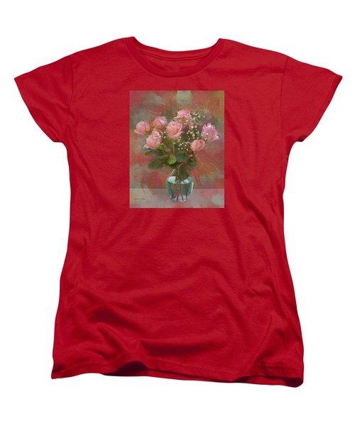 Rose Bouquet Women's T-Shirt (Standard Cut) by Sandi OReilly