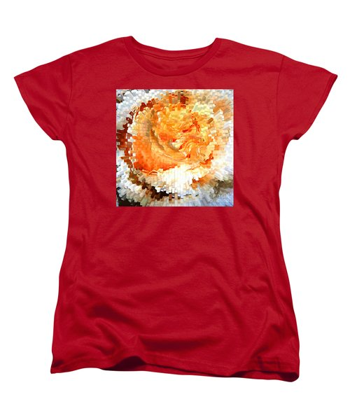 Rose In Bloom Women's T-Shirt (Standard Cut) by Alys Caviness-Gober