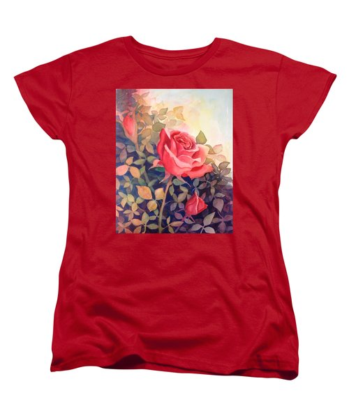 Rose On A Warm Day Women's T-Shirt (Standard Cut) by Marilyn Jacobson