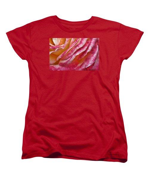 Rose Petals Women's T-Shirt (Standard Cut) by Michael McGowan