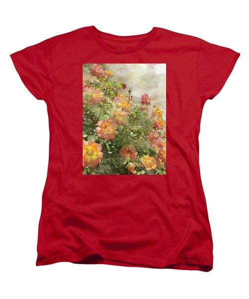 Rose Potpourri Women's T-Shirt (Standard Cut) by Natalie Ortiz