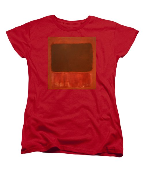 Rothko's Mulberry And Brown Women's T-Shirt (Standard Cut) by Cora Wandel