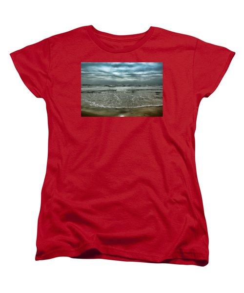 Women's T-Shirt (Standard Cut) featuring the photograph Rough Surf by Ellen Heaverlo