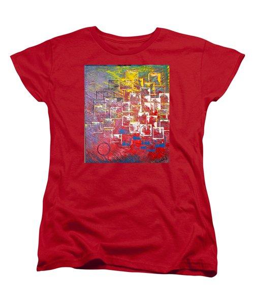 Round Peg Women's T-Shirt (Standard Cut) by George Riney