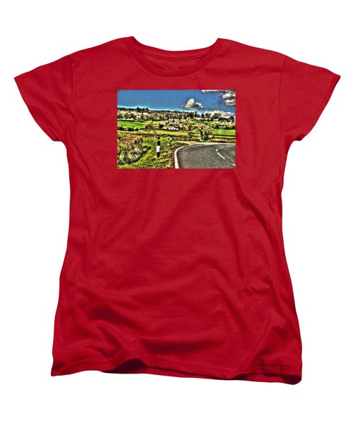 Women's T-Shirt (Standard Cut) featuring the photograph Round The Bend by Doc Braham